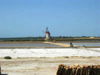 Saline Infersa e mulino a vento nella Riserva delle Isole dello Stagnone di Marsala - 25 maggio 2008    - Marsala (917 clic)