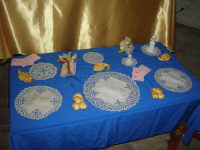Cene di San Giuseppe - mostra di manufatti - ricami - 15 marzo 2009   - Salemi (2334 clic)