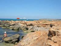 Golfo del Cofano - scogliera, mare stupendo - 30 agosto 2008  - San vito lo capo (492 clic)