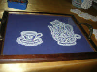 Cene di San Giuseppe - mostra di manufatti - ricami - 15 marzo 2009   - Salemi (1759 clic)