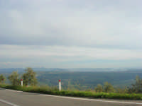 panorama lungo la strada che sale a Caltabellotta - 9 novembre 2008  - Caltabellotta (1685 clic)