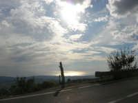 panorama lungo la strada che sale a Caltabellotta - 9 novembre 2008  - Caltabellotta (1937 clic)