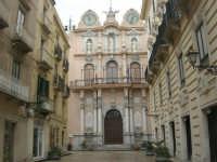 Corso Vittorio Emanuele e l'ex Palazzo del Municipio (la Loggia dell'Orologio) - 8 febbraio 2009  - Trapani (3328 clic)