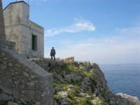 Capo San Vito - dalla Torre dell'Usciere la costa rocciosa e l'azzurro del mare - 10 maggio 2009   - San vito lo capo (1797 clic)