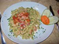 busiate con gambero, ricci e ciliegino - 20 settembre 2009  - Castellammare del golfo (4217 clic)