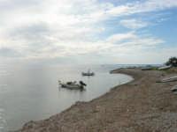 spiaggia ricoperta dalle alghe e mare calmo - 9 novembre 2008  - Ribera (1756 clic)