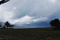 Contrada Canalotto - panorama ovest - Golfo di Castellammare e monti innevati - 13 febbraio 2009  - Alcamo marina (2834 clic)