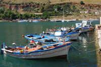 le barche dei pescatori attraccate al molo - 2 ottobre 2007  - Castellammare del golfo (640 clic)