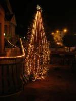 l'albero di Natale addobbato da Giacomo Pecoraro - 7 dicembre 2007  - Alcamo (1291 clic)