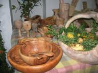 Cene di San Giuseppe - mostra di oggetti artigianali realizzati con legno d'ulivo - 15 marzo 2009   - Salemi (2874 clic)