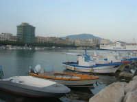 la città vista dal porto - in fondo il monte Erice - 1 maggio 2008  - Trapani (875 clic)