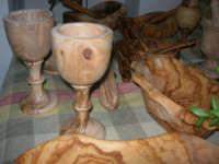 Cene di San Giuseppe - mostra di oggetti artigianali realizzati con legno d'ulivo - 15 marzo 2009   - Salemi (7307 clic)