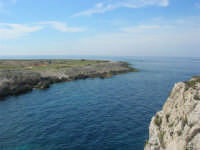 Capo San Vito - la costa rocciosa e l'azzurro del mare - 10 maggio 2009  - San vito lo capo (1788 clic)