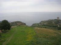 vista sul golfo di Castellammare e torre di avvistamento - 11 aprile 2009   - Scopello (1776 clic)