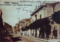 Corso Umberto I con Palazzo Municipale  - Bagheria (2922 clic)