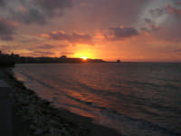 Lungomare Dante Alighieri - tramonto - 13 marzo 2009   - Trapani (1916 clic)