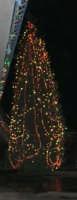 l'albero di Natale addobbato da Giacomo Pecoraro - 7 dicembre 2008  - Alcamo (917 clic)