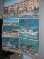 Il Cantastorie PEPPINO CASTRO di Dattilo (TP) presenta l'arte di raccontare cantando LA SICILIA TRA STORIE MITO E LEGGENDE POPOLARI - uno dei cartelloni - Istituto Comprensivo G. Pascoli - 7 - 25 gennaio 2008  - Castellammare del golfo (2001 clic)