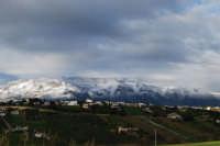 i monti di Castellammare innevati - 14 febbraio 2009   - Alcamo (3143 clic)