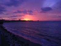 Lungomare Dante Alighieri - tramonto - 13 marzo 2009   - Trapani (1909 clic)
