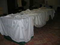 Cene di San Giuseppe - mostra di manufatti - pizzi e ricami - 15 marzo 2009  - Salemi (2710 clic)