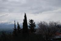 neve sui monti del palermitano - vista dal monte Bonifato - 15 febbraio 2009   - Alcamo (2347 clic)