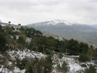 neve sul monte Bonifato e montagne innevate di Castellammare - 15 febbraio 2009     - Alcamo (2533 clic)
