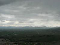 panorama dal monte Bonifato: monti innevati di Palermo - 15 febbraio 2009   - Alcamo (2770 clic)