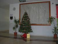 albero di Natale nell'androne dell'Istituto Comprensivo G. Pascoli, dinanzi al Trittico Arte - Letteratura - Scienza di L. Addezio Scuola e Progresso 1968 - 20 dicembre 2007  - Castellammare del golfo (651 clic)