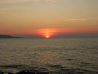 Golfo di Bonagia - tramonto - 12 ottobre 2008   - Cornino (670 clic)
