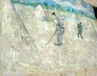 nella piccola frazione di Paceco, un murales raffigurante il lavoro nei campi - 1 maggio 2007  - Dattilo (3357 clic)
