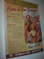 Gli altari di San Giuseppe - la locandina della festa - 18 marzo 2009   - Balestrate (3684 clic)