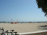 la spiaggia: ombrelloni in riva al mare - 8 agosto 2008   - San vito lo capo (540 clic)