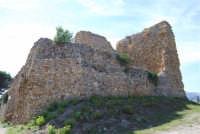 sulla rupe i ruderi del Castello Eufemio, di epoca medioevale - 4 ottobre 2007  - Calatafimi segesta (636 clic)
