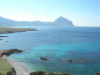 Golfo del Cofano: panorama da Macari - 24 febbraio 2008   - San vito lo capo (521 clic)
