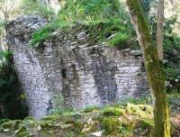 Bosco d'Alcamo - Riserva Naturale Orientata - sul monte Bonifato: La Funtanazza, grande serbatoio pubblico di età medievale - 8 dicembre 2006  - Alcamo (3188 clic)