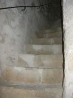 Castello arabo normanno - particolare all'interno della torre: la scala - 2 gennaio 2009   - Salemi (2759 clic)