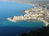 panorama dal Belvedere: la città ed il golfo di Castellammare - 3 marzo 2008  - Castellammare del golfo (569 clic)