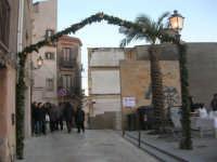 Cene di San Giuseppe - addobbo in strada - 15 marzo 2009  - Salemi (2457 clic)