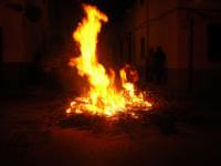 Gli altari di San Giuseppe - il falò nella strada ne segnala la presenza - 18 marzo 2009   - Balestrate (3599 clic)