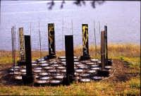 peccatometro illunato scultura al lago di S. Renda  - Piana degli albanesi (3183 clic)