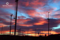L'imbrunire sul campetto di calcio  - Militello in val di catania (3092 clic)