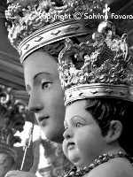Madonna della Stella - dettaglio dei volti  - Militello in val di catania (6427 clic)