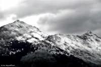 Monte Cuccio - Palermo - suggestiva vista dei colli che circondano la città, imbiancati dalla nevica