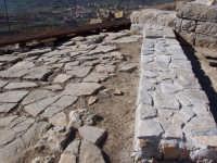 Particolare della città Sicana sul Colle Madore dopo gli ultimi lavori di restauro effettuati dalla