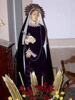 Chiesa di Sant'Antonio. La Madre Addolorata. Particolare. (Celebrazioni della Settimana Santa).   - Lercara friddi (3421 clic)