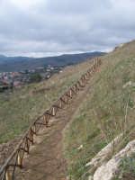 Il sentiero che conduce al Sito Sikano Sul Colle Madore dopo gli ultimi lavori.(febbraio 2009).  - Lercara friddi (6251 clic)