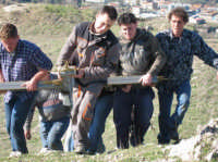 Le fasi della salita della Croce sul Colle  - Lercara friddi (5945 clic)