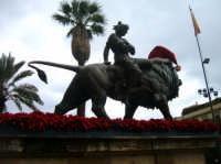 Natale a Palermo: particolare Teatro Massimo  - Palermo (2077 clic)