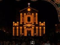 Chiesa Madre di Bagheria, illuminata durante la festa di San Giuseppe Patrono della Città  - Bagheria (7955 clic)
